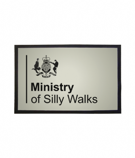 Ministry of Silly Walks Monty Python Design Welcome Mat Doormat